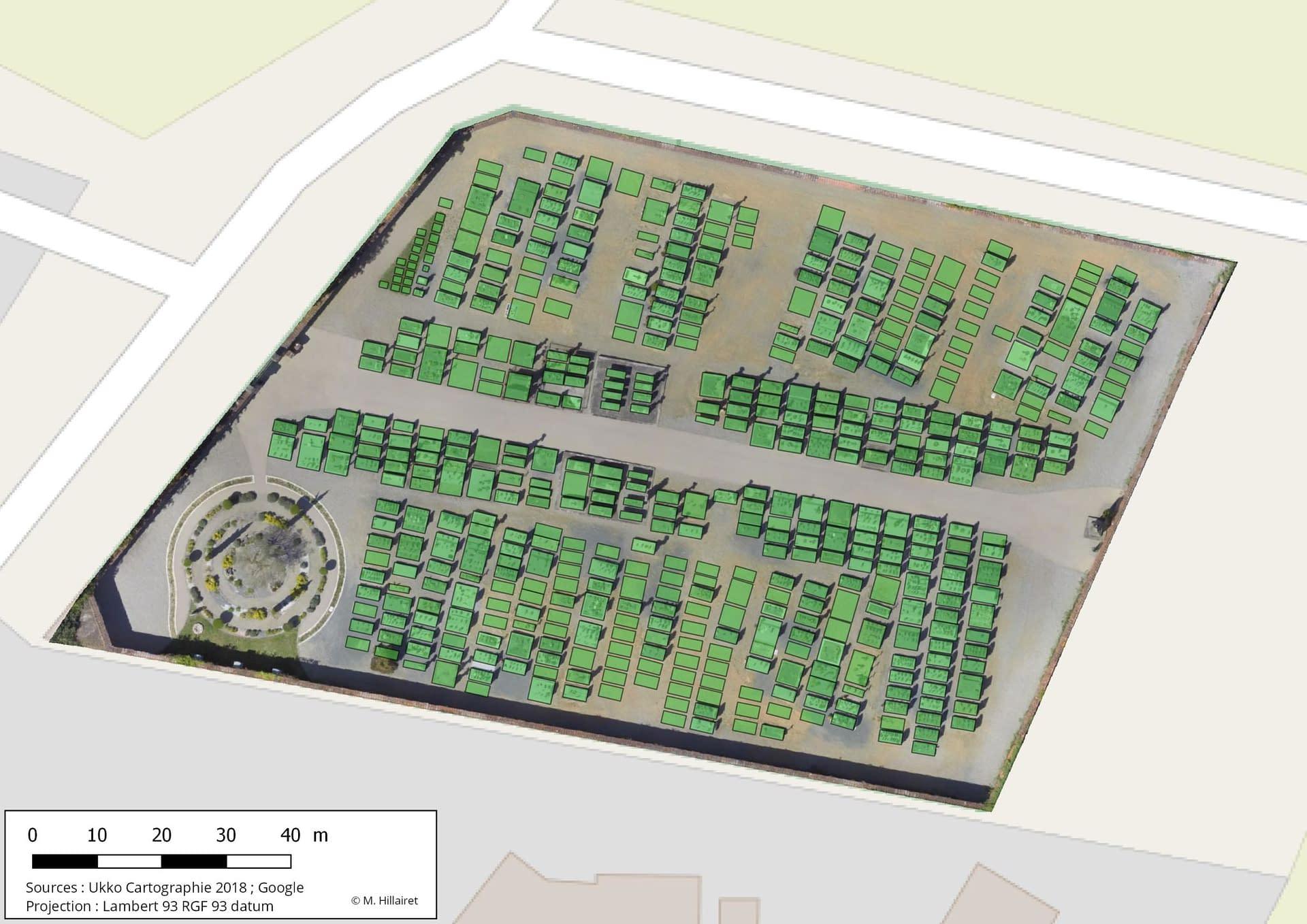 orthophotographie cimetière vectorisation drone